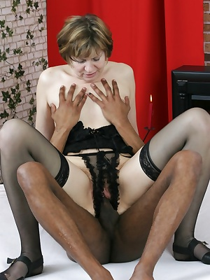 Horny housewife craving a hard black cock