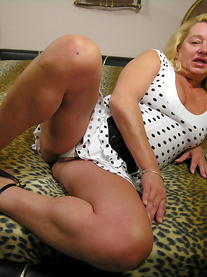 Get a taste of a big blonde mature slut