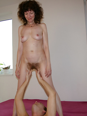 See this hairy mature slut enjoy a good fuck