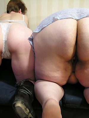 Mature lesbians in horny action