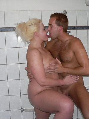 Blonde cocksucking chubby slut