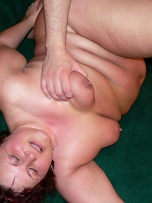 See this chubby mature slut enjoy that hard throbbing cock