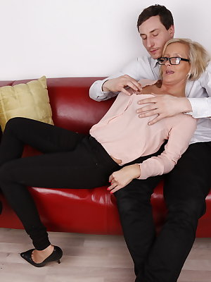 Horny German housewife doing her lover
