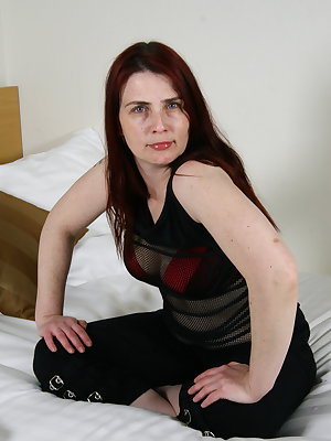 Dutch housewife playing in bed
