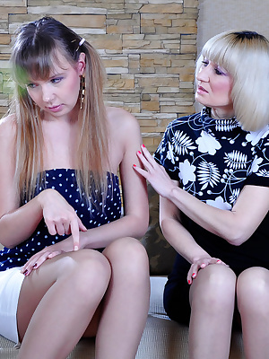 Amelia B&Aubrey mature and young women