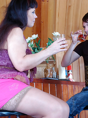 Ottilia&Rolf sexy mom gives ass