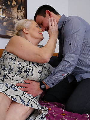 Mature bbw playing with her toy boy