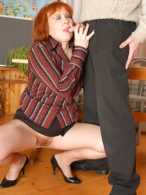 Elinor&Jerome pantyhosefucking cute mature bitch