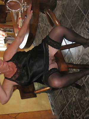 Sexy Girdlegoddess One HOT mama in stockings and black satin.