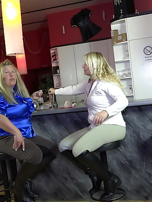 2 hot milfs in riding clothes and boots. He allowed his fantasies of life after pleasure. The narrow impact touch ass in