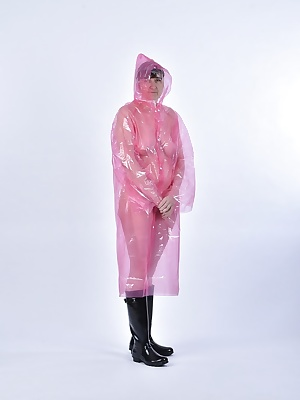 Wish Photos.In the rain poncho in pink and with rain cover.And my good hunter, too.