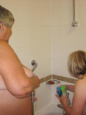 Showering is much more exciting g when my friend Trisha offers to wash my back  As you can see here we get up to much mo