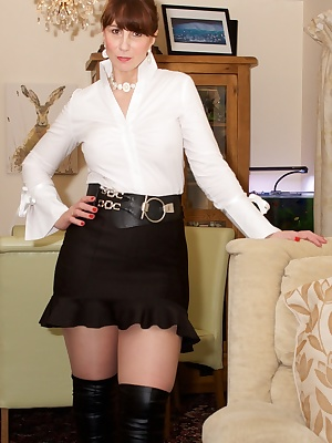 I had been out with no bra or knickers just a white blouse and short black skirt and of course my sexy suspender belt an