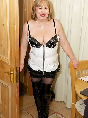 Yes Its another Photoset shot at my Holiday Cottage in Lincolnshire this time Im wearing my sexy white PVC Basque and no