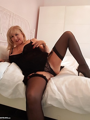 Im feeling so horny.  Im wearing my see-through Babydoll nightie with stockings, suspenders, pretty see-through lacy pan