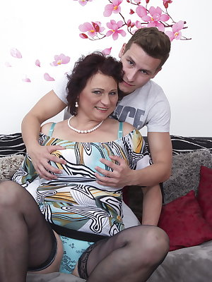 Naughty mature BBW getting it done with her toy boy