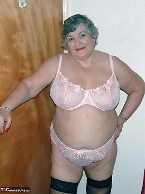 Grandma Libby has a new set of lingerie  matching pink bra and panties.  When I tried them on I felt very sexy so though