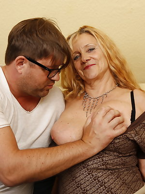 Naughty German housewife fucking her ass off