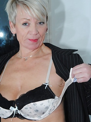 Second part of my naughty Secretary shoot lots of up my skirt shots with no panties tit flashing then fully naked.