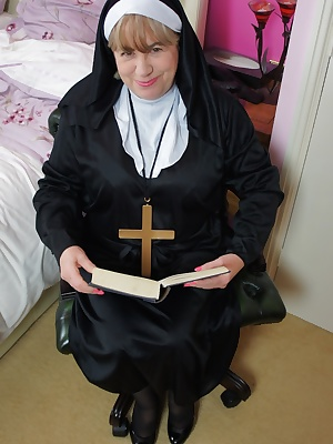 Hi Guys heres a few hot Pics of me and Busty Kim having some fun as two very Naughty Nuns, shot while filming the Movie