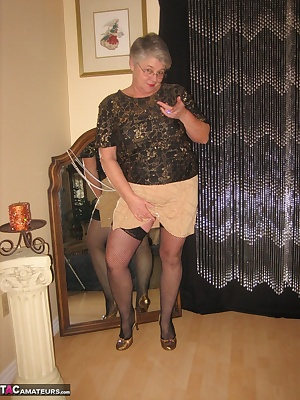 Sometimes its fun to get slutty. So i slip into a nice short, sexy tight skirt, and tight blouse. Then slip on a hot pai