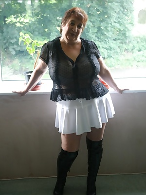 Very sexy boots and mini skirt xxx
