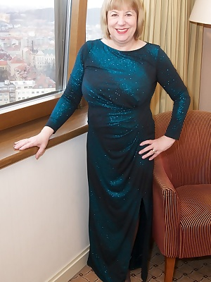Hi Guys Im all Dressed Up and Nowhere to Go, Im wearing my Long Blue Evening Dress with Blue Lingerie Underneath and Im