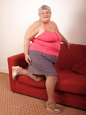 Tights, or pantyhose, call them what you like because Grandma is wearing them for you here.
