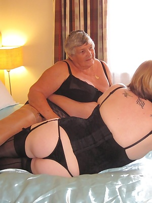 Grandma Libby and Auntie Trisha get together for a very sexy afternoon in the bedroom.  What fun we have playing and exp