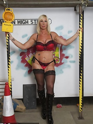 Out on the street in my fab red undies. Melody x