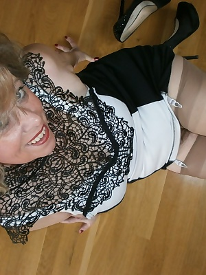 I bought a nice dress which I immediately dressed to you thereto real nylons and heels. thereby comes one so many dirty
