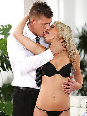 Horny milf Claudia Macc is a sheer joy to look at, and she'll gladly follow up on any sexual urges she senses. Instead of trying on her dress, she instead gives her man a blowjob and accepts a thorough pussy licking before taking a big hard cock deep in h