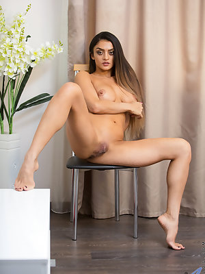 Busty milf Karen is always up for a good time. Her revealing dresses are complete with short miniskirts and easily fall to the floor so this exotic mom can peel off her bra and g-string to get totally nude. Once her bare slit is exposed, ripe and creamy w