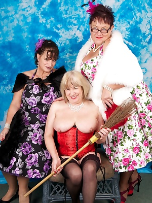 A set with my Friends Busty Kim and Warm Sweet Honey, here I start of as Cinderella then return as the Fairy Godmother w
