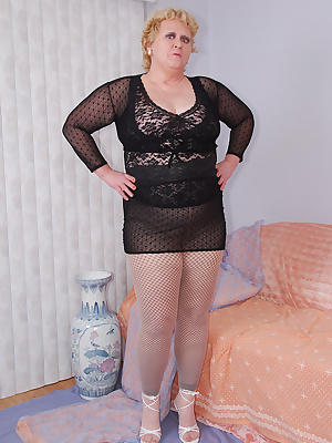 How do you like my sexy black fishnet leggings... to do something different I wear sheer pantyhose on top at first. To c