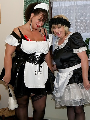 Hi Guys, I was working as a Maid with my Friend Busty Kim and we were tidying up and cleaning, well we were supposed to