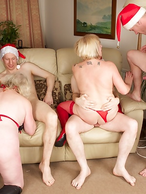 Hi Guys, I had invited a few friends around for a Christmas party, and things soon started to Hot Up especially when My