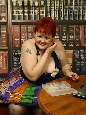 I am a librarian who likes to give out so much more than books - my customers get to see some flashing in my library.