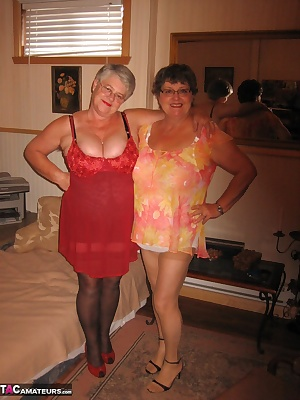 Those two sexy mature cougars, just love to cock tease you as we get sexy naked for you...xo