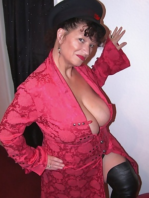 I got John to take some pics of me in my new red velvet jacket  thigh high boots, i love dressing up in sexy clothes as