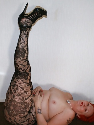 More of my lacey tights and more of my flesh as well - I am so cute n cuddly.