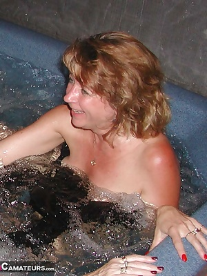 The hot tub really did look like a good place to kick back and relax for a while. But, LipstickLisa and I just cant keep
