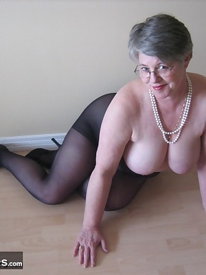 Naughty Dawna, has something to show you young man... I know you have always wanted to see what Aunty has under her skir