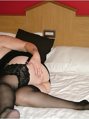 I know you all love stockings, so here's me showing off in some black ones.