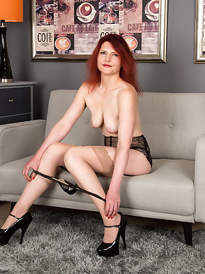 Get ready for Cee Cee, a mature German redhead whose number one need in life is a good bald pussy pounding. After a long day at work, all this juicy cougar can think of is getting out of her bra, thong, and miniskirt so her eager fuck hole is ready to be
