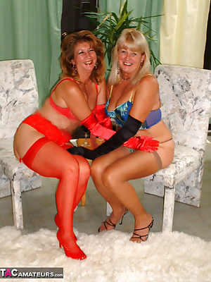 Adonna brought some new lingerie and gloves. I added the toy. Now watch as we get down to business..butt to butt, WOW, b