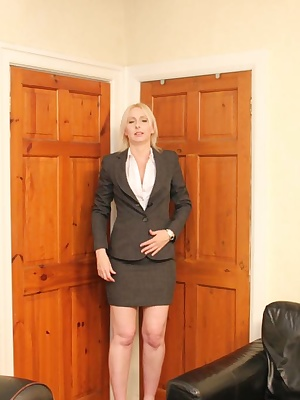 My business suit makes me look so professional,but underneath im feeling so hot and need a cock.it isnt long before i ge