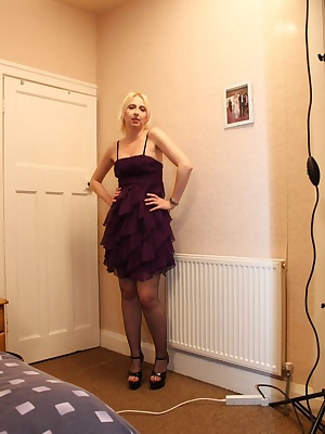 Looking quite sexy even if i say so myself.These little clothes are not going to get in the way of a rampant cock like F