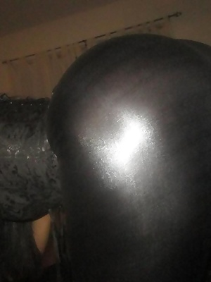Here you will see Ching Lan wear very tight black latex pants. Her bubble butt is screaming for attention. She wants to