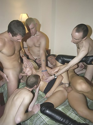 See me get multiple fucked by up to 7 guys at once including DP